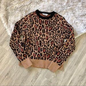 Scotch & Soda Maison Scotch Leopard Sweater